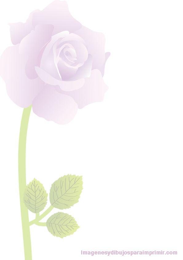 una rosa para decorar el folio  FONDOS  Pinterest  Dibujos para