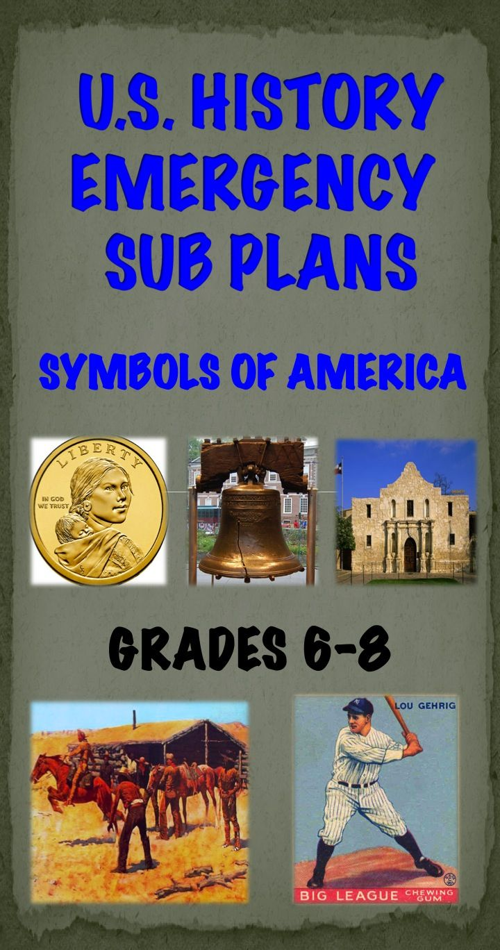 Printable No Prep Emergency Sub Plans For The Us History Classroom Engaging Topics Len Social Studies Middle School Middle School History Teaching Us History