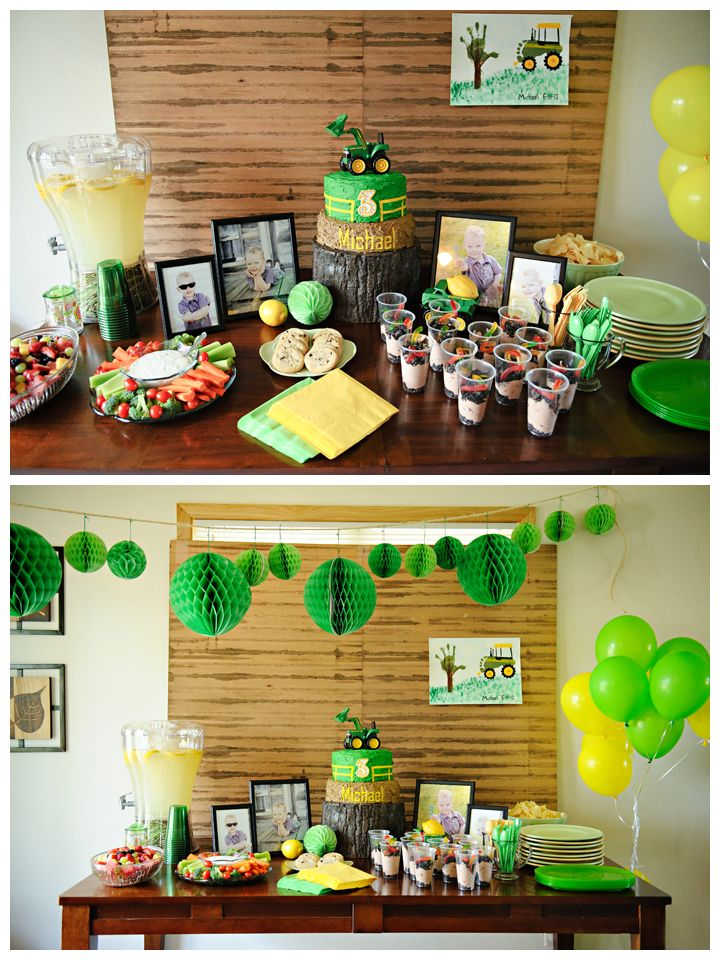 Ideas For 3 Year Old Birthday Party Tractor Print So Cute Blog1 More