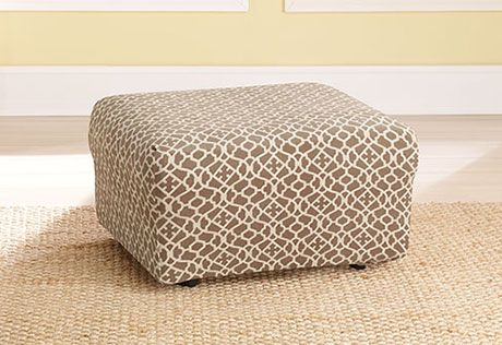 Sure Fit Slipcovers Stretch Ironworks Ottoman Covers