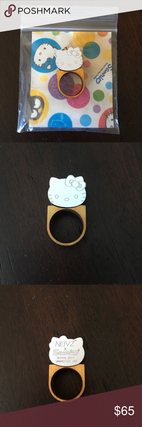 4260f25f3 I just added this listing on Poshmark: LIMITED EDITION SANRIO HELLO KITTY  WOOD RING NEW