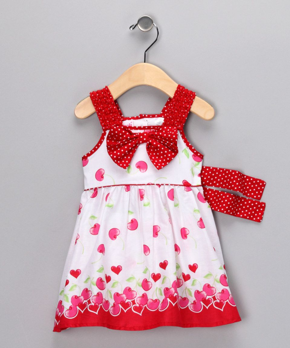 White & Pink Heart Dress - Infant by Young Hearts #zulily ...