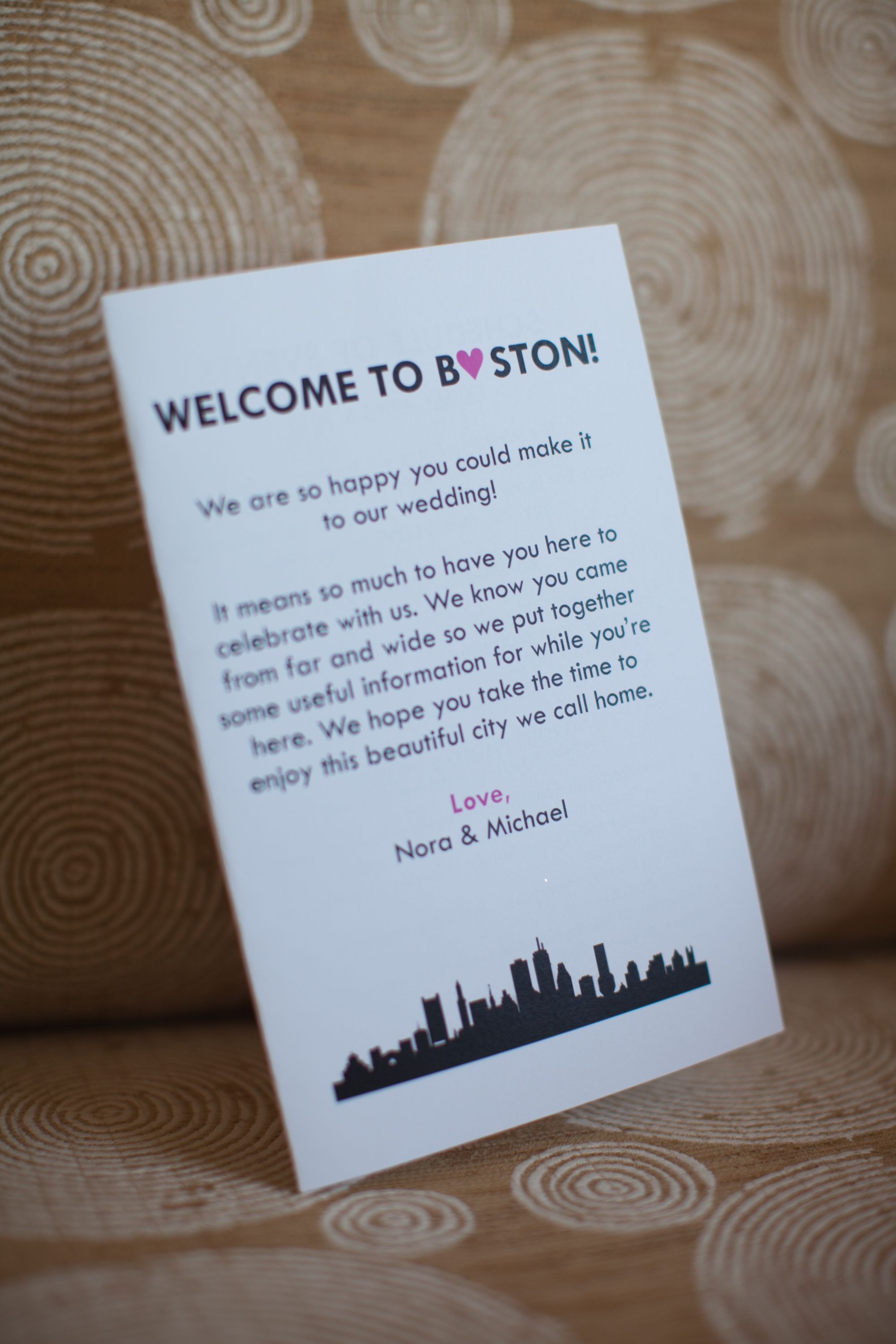 Welcome To Boston Hotel Gift Bag Insert Decorating Ideas Pinte