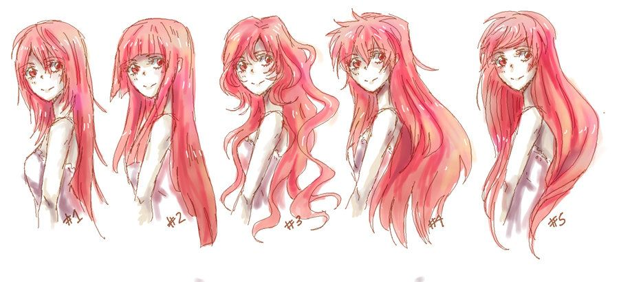 Anime Long Hair References By Nyuhatter On Deviantart Drawing