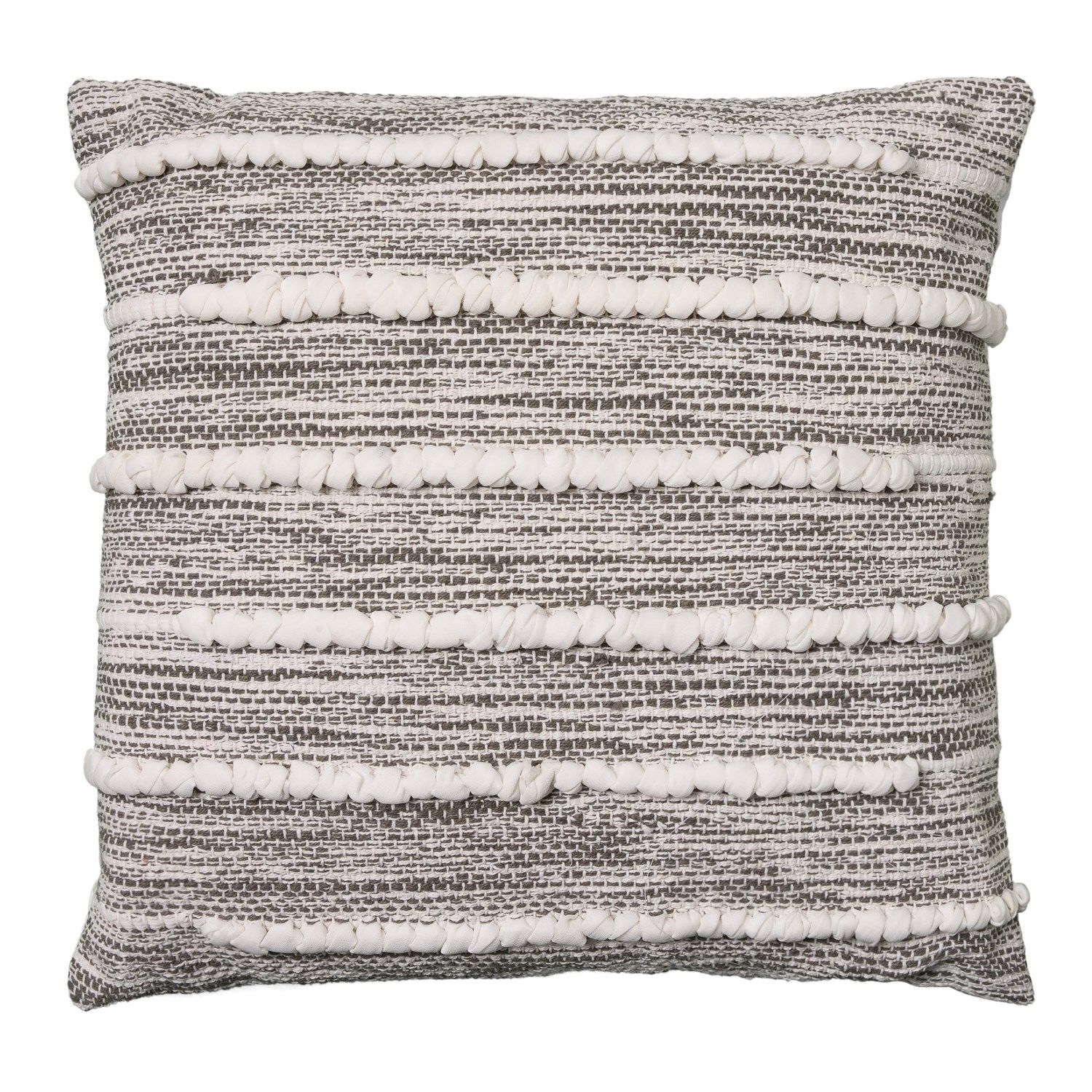 Bungalow Loft Dottie Texture Grey Throw Pillow 20x20 In Grey At