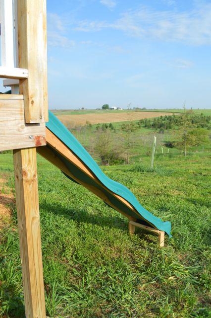 Creating A Slide On A Deck Platform Outdoor Remodel Diy Slides