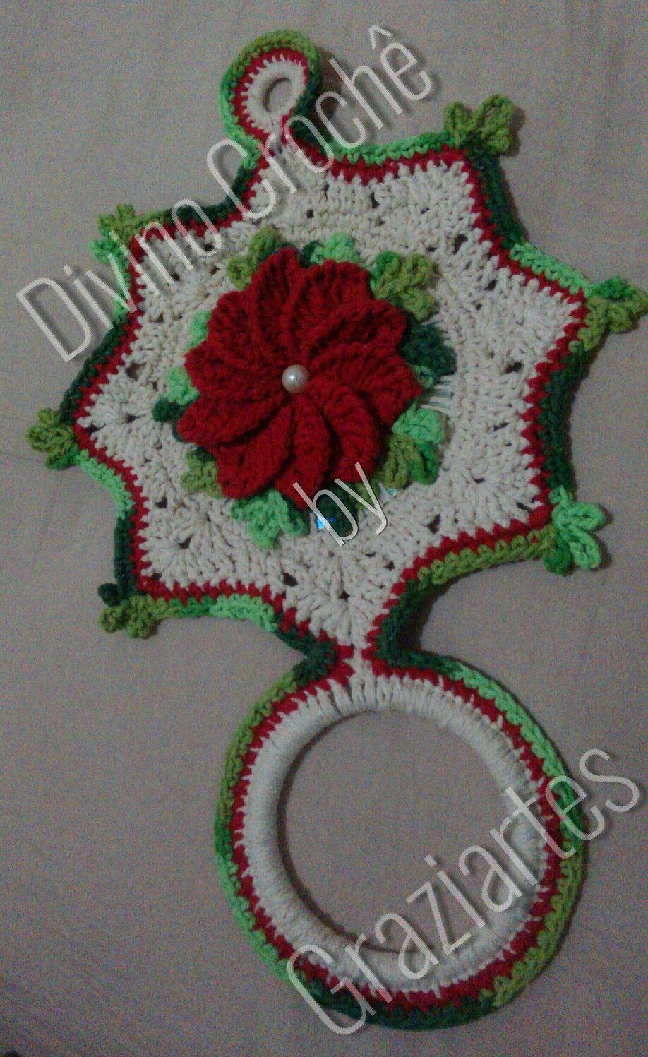 Porta pano de prato com cd | Crochet Casa | Pinterest | Cosas de ...
