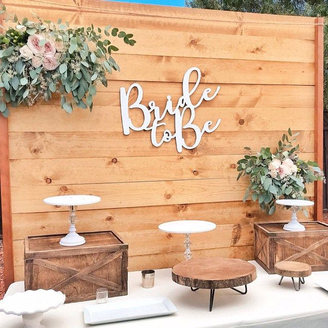 Bride to be wood sign, Wedding Backdrop, Wedding B