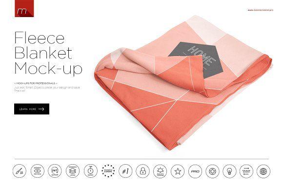 Fleece Blanket Mock-up by mesmeriseme.pro on @creativemarket