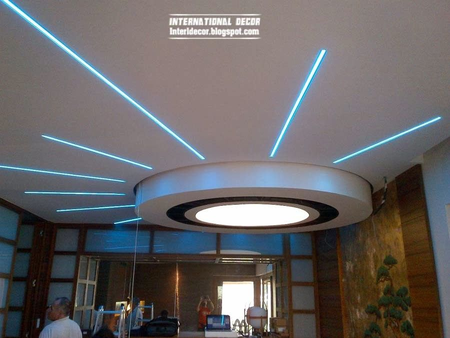 Pop False Ceiling Designs Suspended Ceiling With Led
