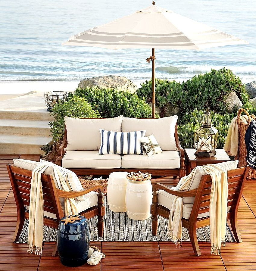 Beach Deck. Gorgeous outdoor living space