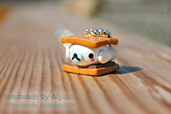 Mamegoma Seal Smore Necklace by HandmadebyAlyssa on Etsy, $7.00