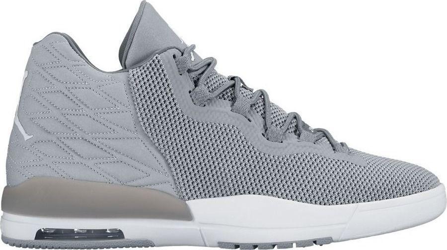 NWT Nike Air Jordan Academy Mens Hi Top Basketball Flu 844515 003 Grey Shoes  #Jordan