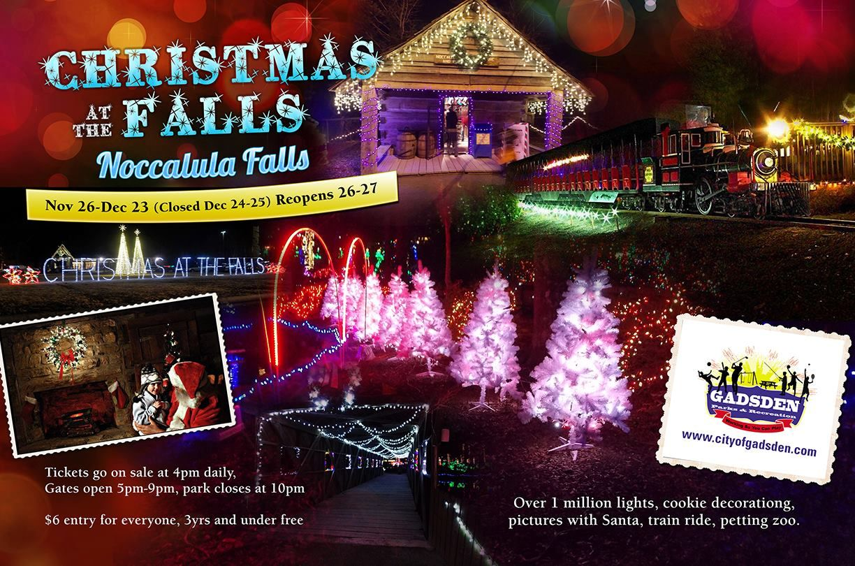 Get ready. .. Christmas at the Falls opens Thanksgiving Night ...
