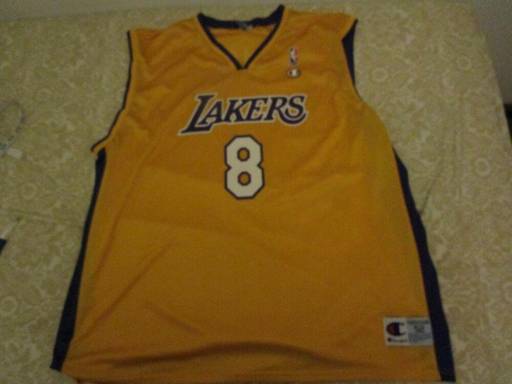 c7dcc2fd0d4  Rare  Vintage  NBA Los Angeles Lakers  KobeBryant 8 Champion  Rookie   Jersey Size 52  Champion  LosAngelesLakers