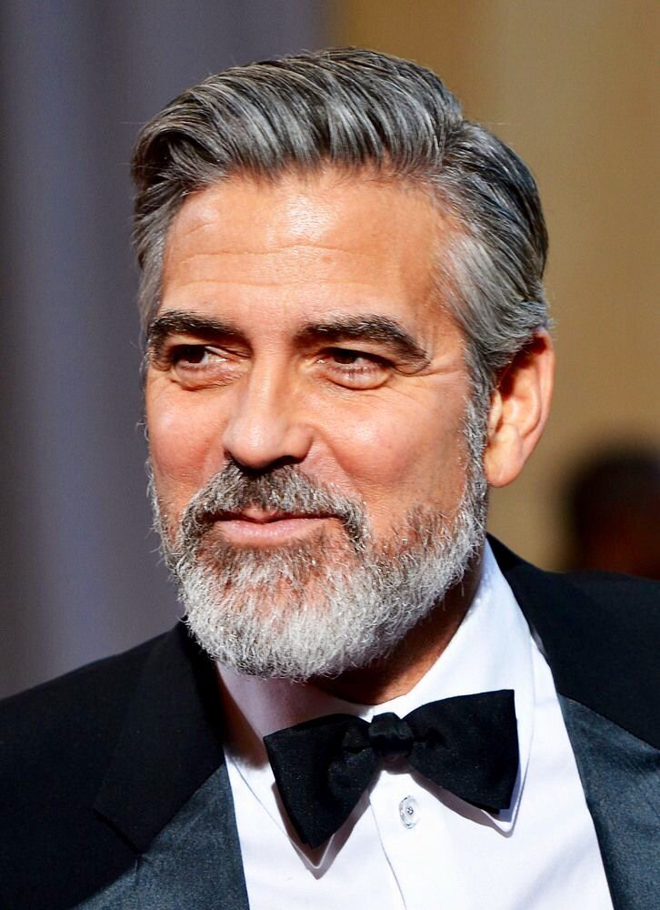 George Clooney Gray Hair Pinterest George Clooney Haircuts