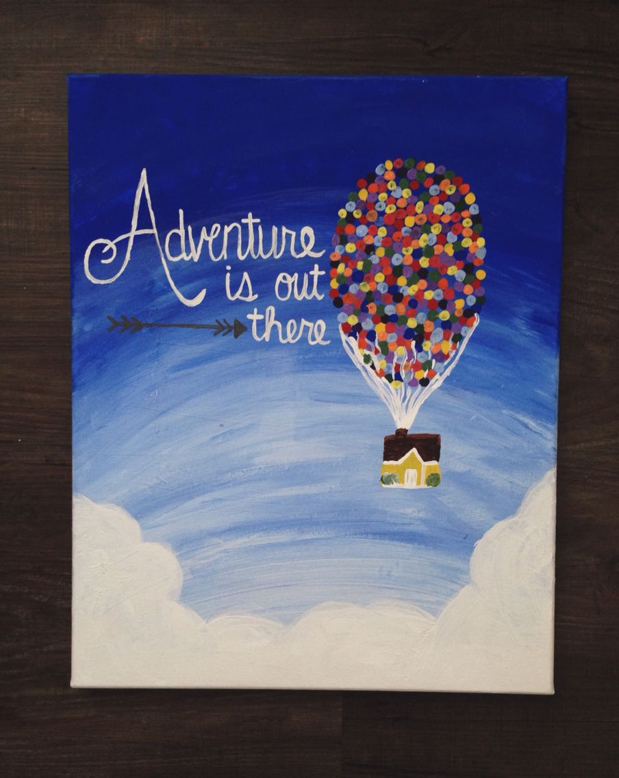 adventure is out there canvas painting  Sorority PaddlesSorority CraftsEasy  ...