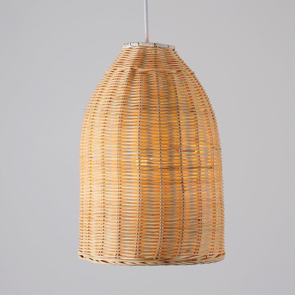 Modern Rattan Basket Ceiling Pendant Light Shade In A