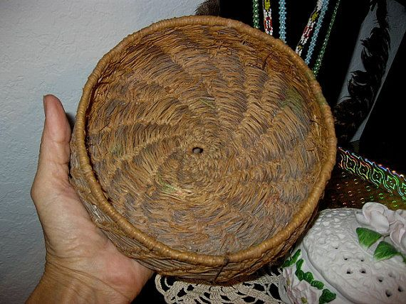 Antique Pine Needle Basket