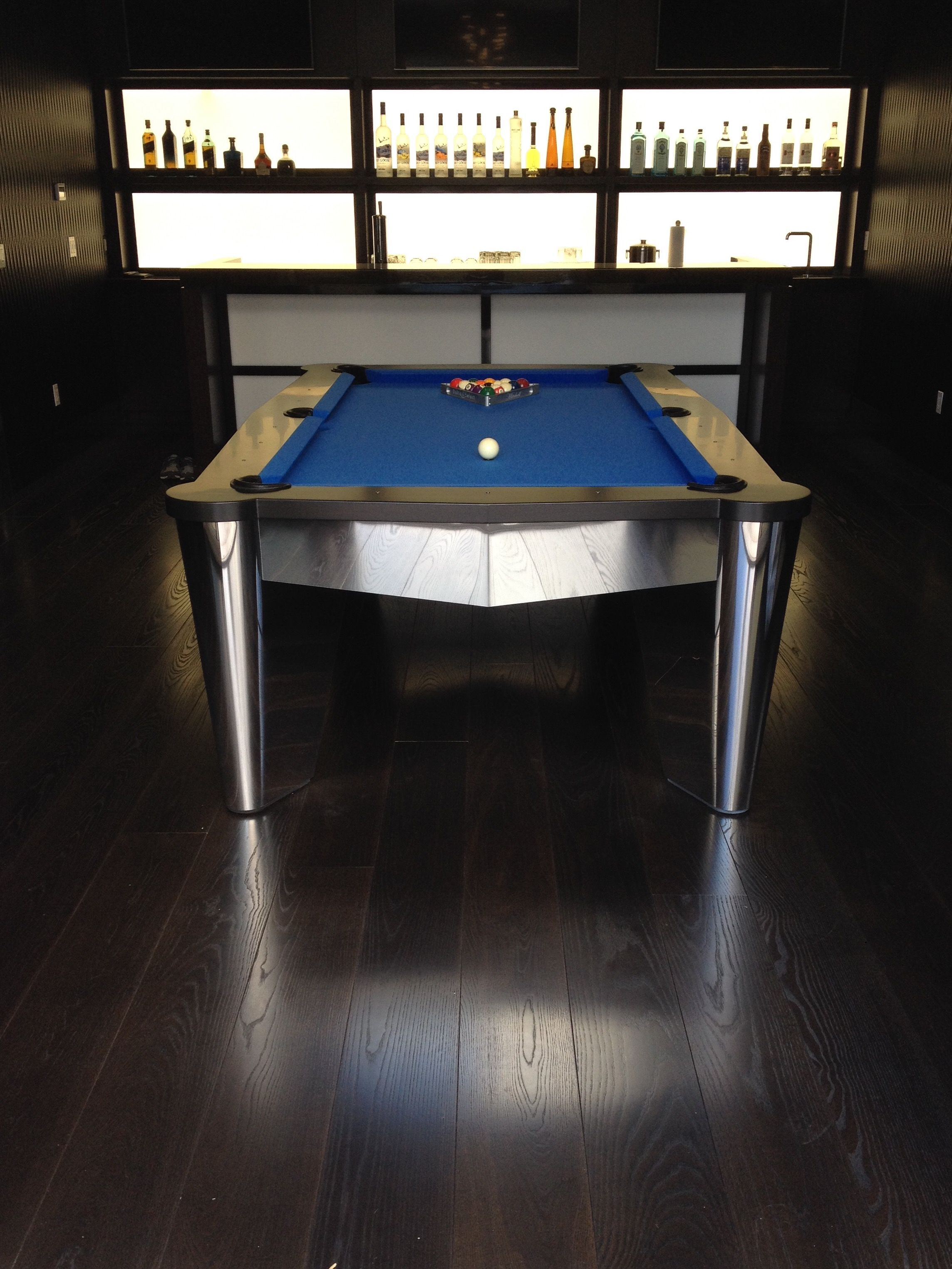 Mitchell Pool Tables Chrome Pool Tables Metal Pool Tables Modern - Chrome pool table