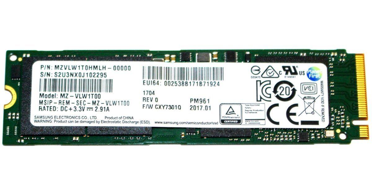 Samsung Pm961 1tb M 2 Nvme Pcie Ssd Review Ssd Samsung Reviews