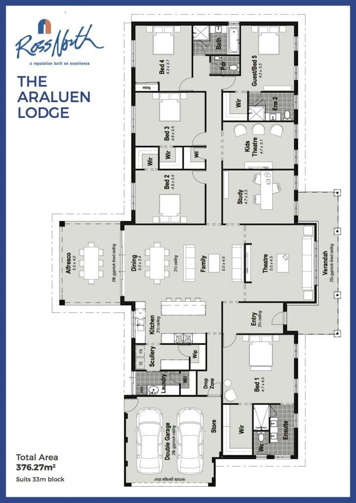 The Araluen Lodge Bedroom House Plans Dream House Plans