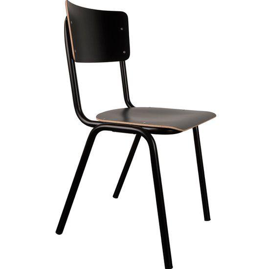 Zuiver back to school hpl stoel zwart in 2019 for Zuiver stoelen