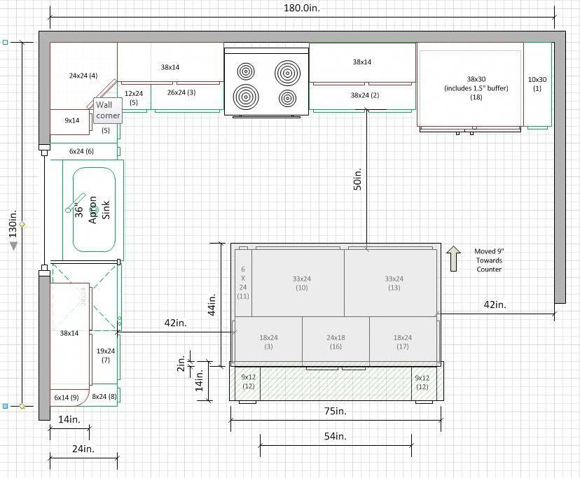 Is A 10 X15 Kitchen Too Small For U Shape Kitchens Forum Gardenweb Kitchenideasremodeli Kitchen Layout U Shaped Kitchen Layout Plans Kitchen Floor Plans