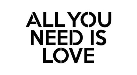 ALL YOU NEED IS LOVE Mantra Craft Stencil