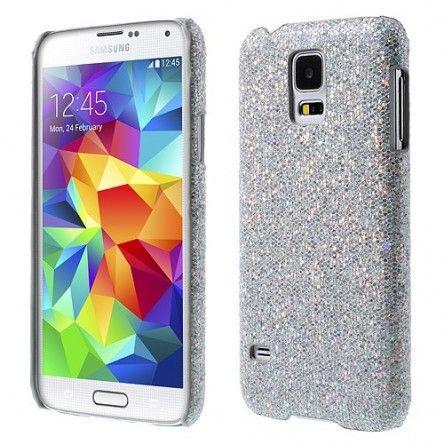 Coque Samsung Galaxy s5 Strass Paillette - Argent | Samsung galaxy ...