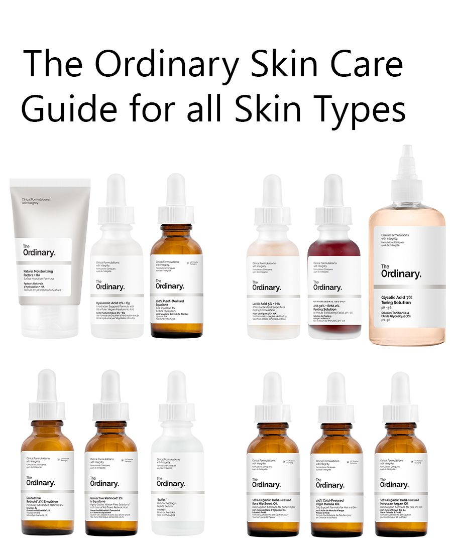 The Ordinary Skin Care Guide For All Skin Types The Ordinary Skincare The Ordinary Skincare Guide Skin Care Guide