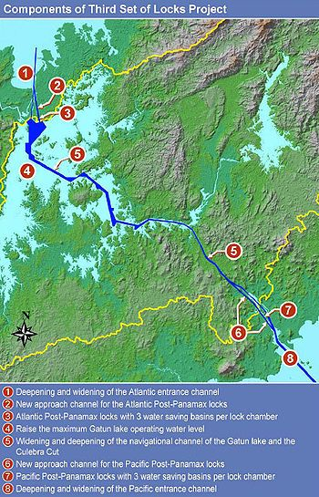 Panama Canal Expansion Project Wikipedia The Free Encyclopedia Travel Plans Pinterest