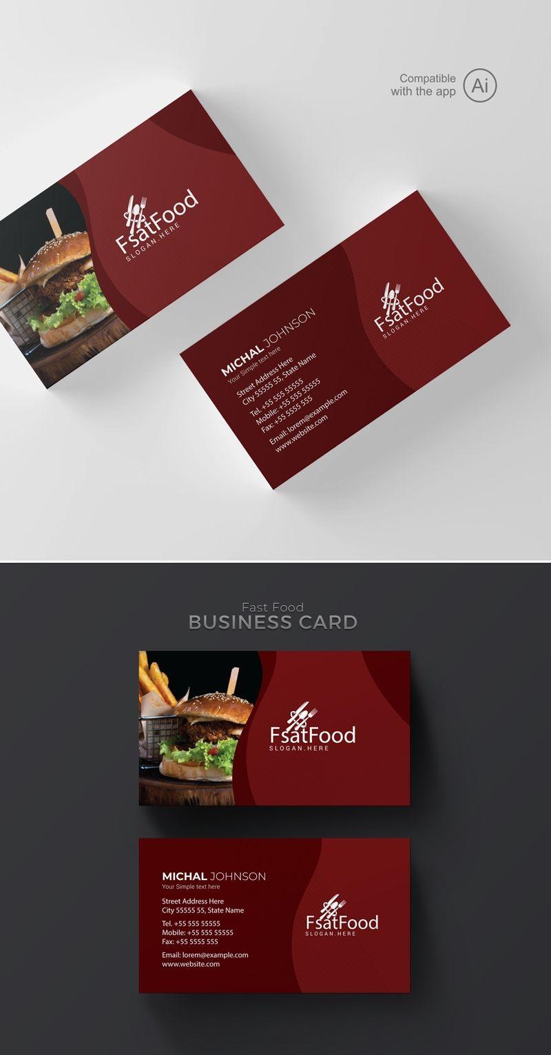 Freepiker Restaurant Business Card Template Intended For Restaurant Business Cards Food Business Card Restaurant Business Cards Free Business Card Templates