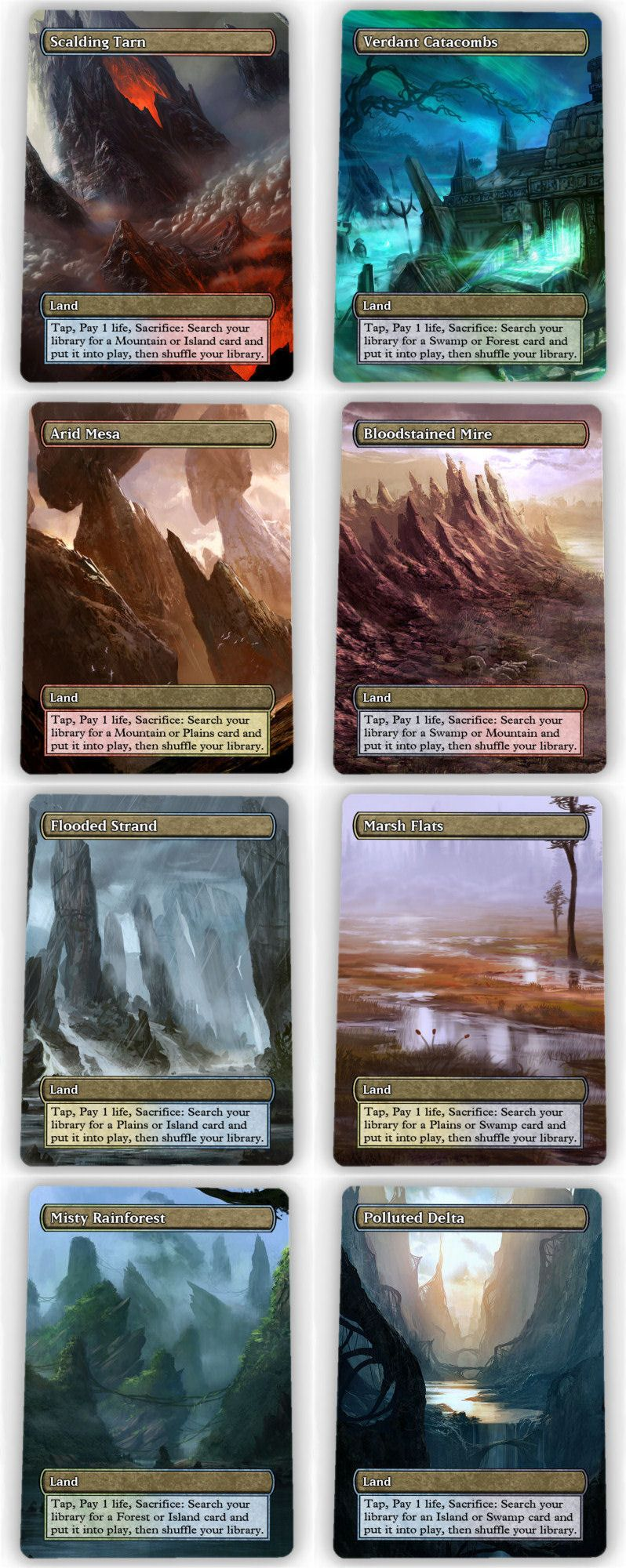 Fetch Lands mtg individual cards 38292: === 1 each of all 10 fetch lands