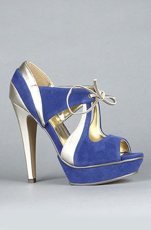 Sole Boutique: The Kamria Shoe in Blue