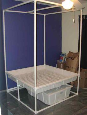 pvc hydroponics stand & pvc hydroponics stand | Hydroponics u0026 Aquaponics | Pinterest ...
