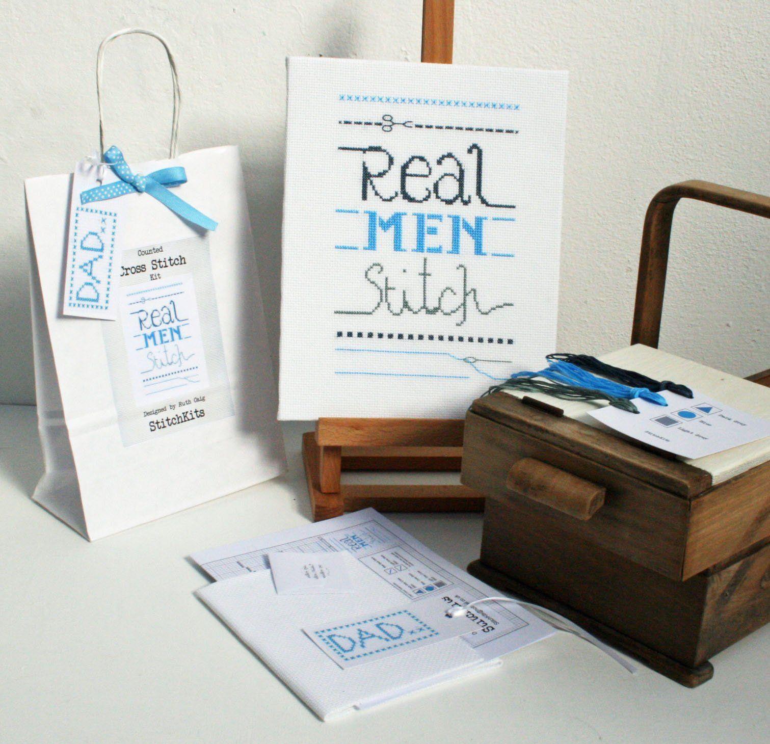 Real Men Stitch, Cross Stitch Kit
