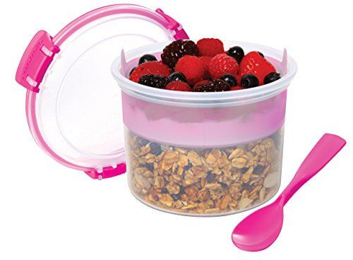 Sistema Overnight Oats Breakfast Plastic Food Container Storage To Go 530Ml New