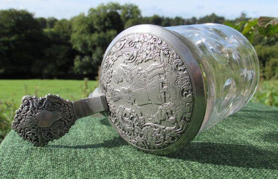 1890s Victorian Gaukler Beer Stein Antique by GoGreenBuyVintage353