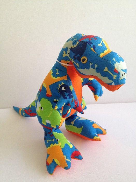 Dinosaur Sewing Pattern : dinosaur, sewing, pattern, Dinosaur, Sewing, Pattern, T-REX, DOWNLOAD, Stuffed, Animals,, Sewing,, Animal, Patterns