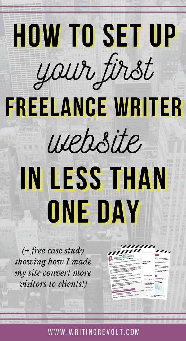 How To Set Up A Freelance Writer Website In 1 Day Or Less Freelance Writer Website Freelance Writing Writing Jobs