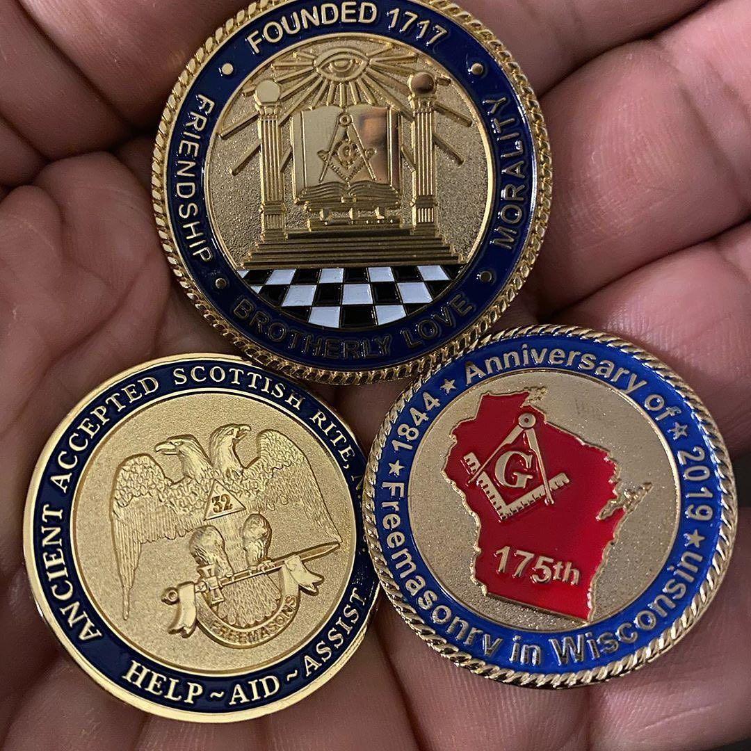 masonic challenge coin