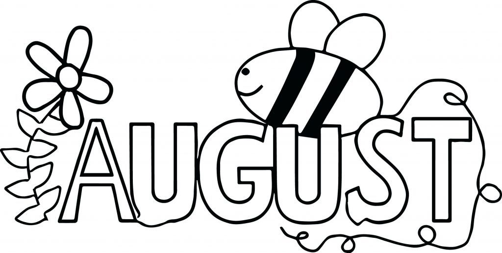 August Coloring Pages Bee Coloring Pages Coloring Pages For