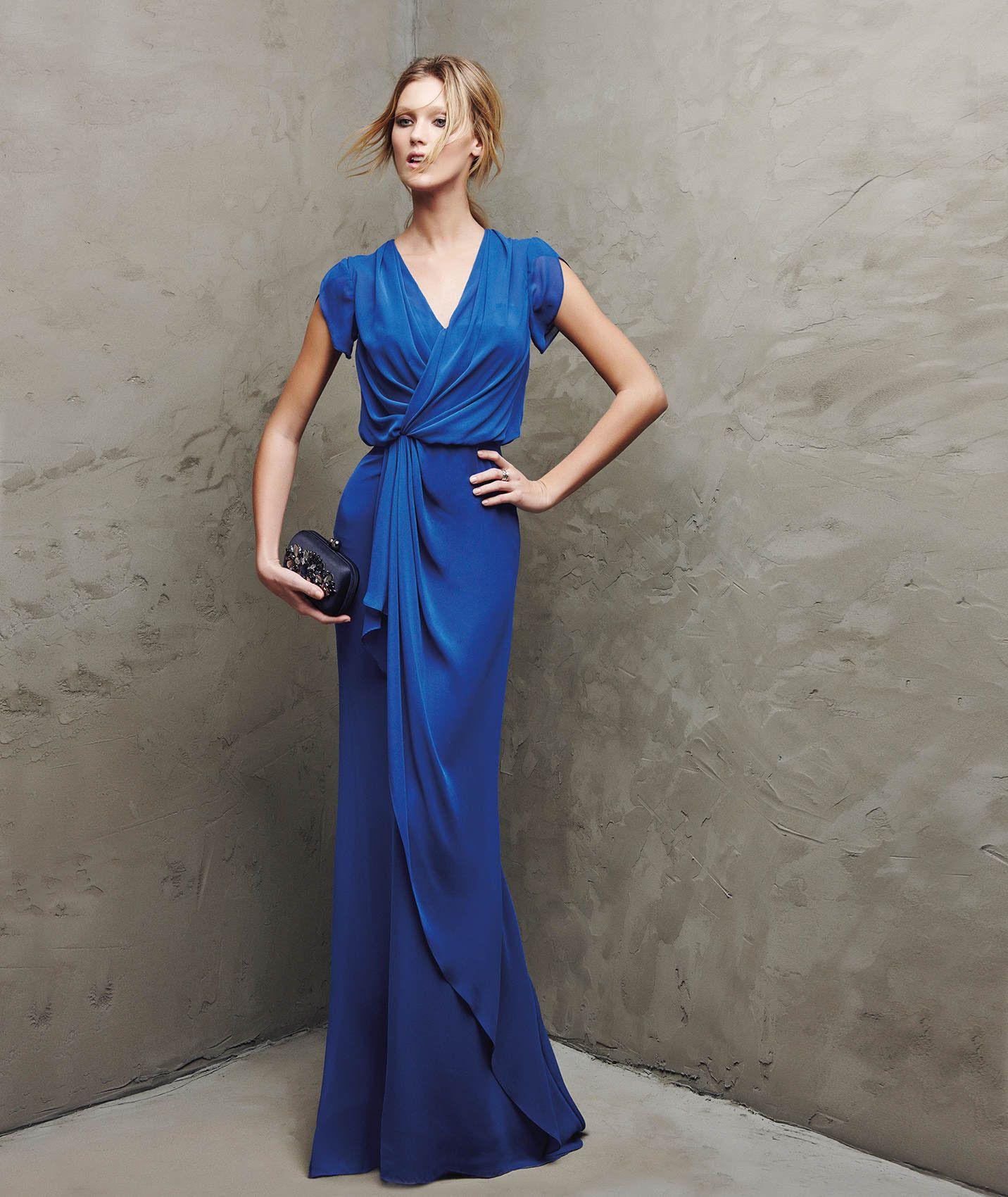 Long dresses for wedding party  Vestido de gasa de fiesta  CHIC  Pinterest  Gowns Clothes and