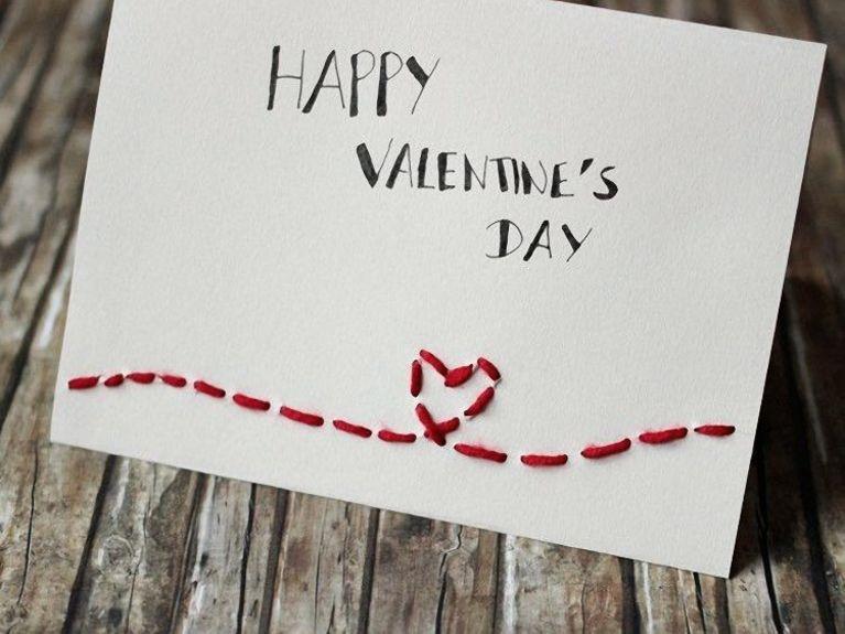 Heute Hat Katha Von Kathastrophal Für Dich Eine Kleine Und Einfache  DIY Idee Für Den Valentinstag: Eine Bestickte Karte Mit Herz. Mehr