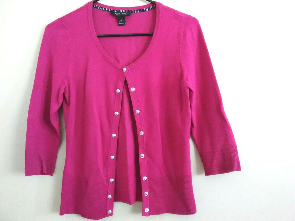 9d1171d24d White House Black Market Pink Blend 3 4 Sleeve Cardigan Sweater XS   WhiteHouseBlackMarket  CardiganSweater