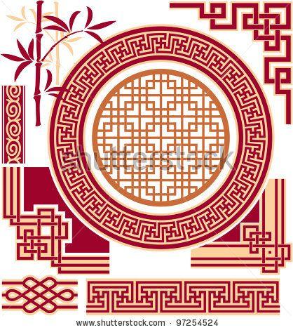 Set of Oriental - Chinese - Design Elements by LeshaBu ...