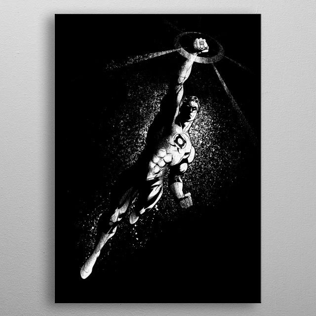 Green Lantern Poster made out of metal Poster made out of metal metal wall art designed by Comics would bring style to your room Hang it  enjoy