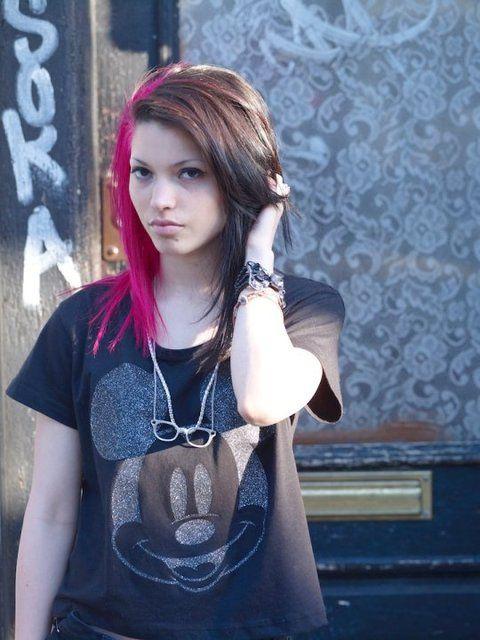 Maxine Ashley Half Brown Half Pink Hair Half And Half Hair Hair Dye Colors Dyed Hair