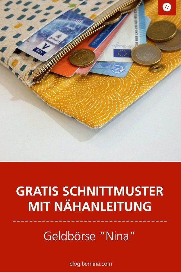 Anleitung kleines Portemonnaie Nina #gratisschnittmuster